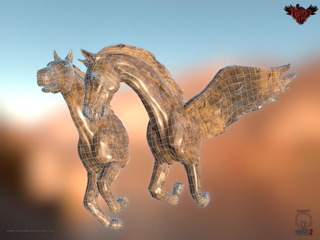 Galion Horses Wireframe